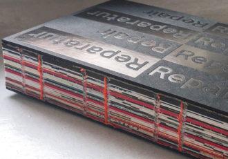 Produktdesign - Cover 'Reparatur/ Repair' (HatjeCantz)