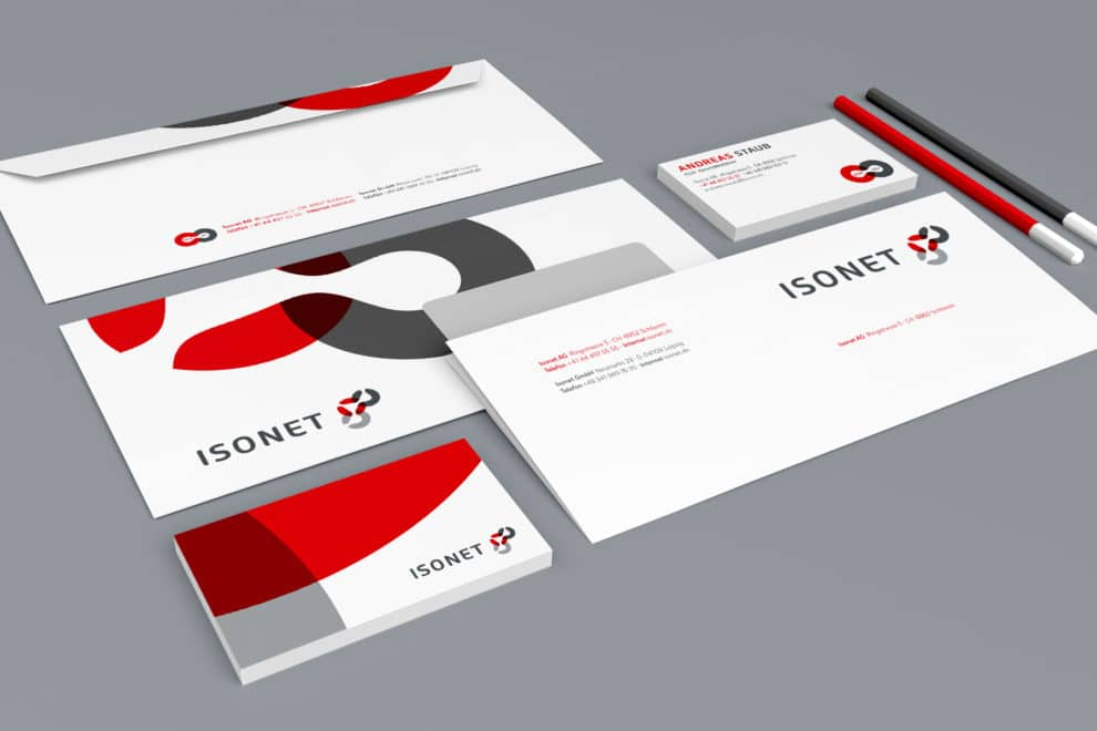 Isonet Corporate Design Geschäftsausstattung