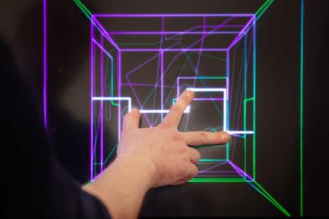"""Für die Arbeit """"Mutant – Multiperspektivische Gestaltung von Klang und Musik"""" wurde Stephan Kloß (Multimedia Design) in der Kategorie """"Interessantestes Experiment"""" ausgezeichnet. Foto: Foto: Max Méndez, Michel Klehm"""