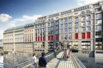 Visualisierung Zugang des neuen Bucerius Kunst Forums von der Fleetbrücke © CADMAN Art-Invest Real Estate
