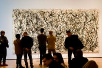 "EW YORK, USA - MARCH 26: Picture of the artist of Jackson Pollock ""Number 31"" in Museum of Modern Art on March 26, 2014 in New York, USA"