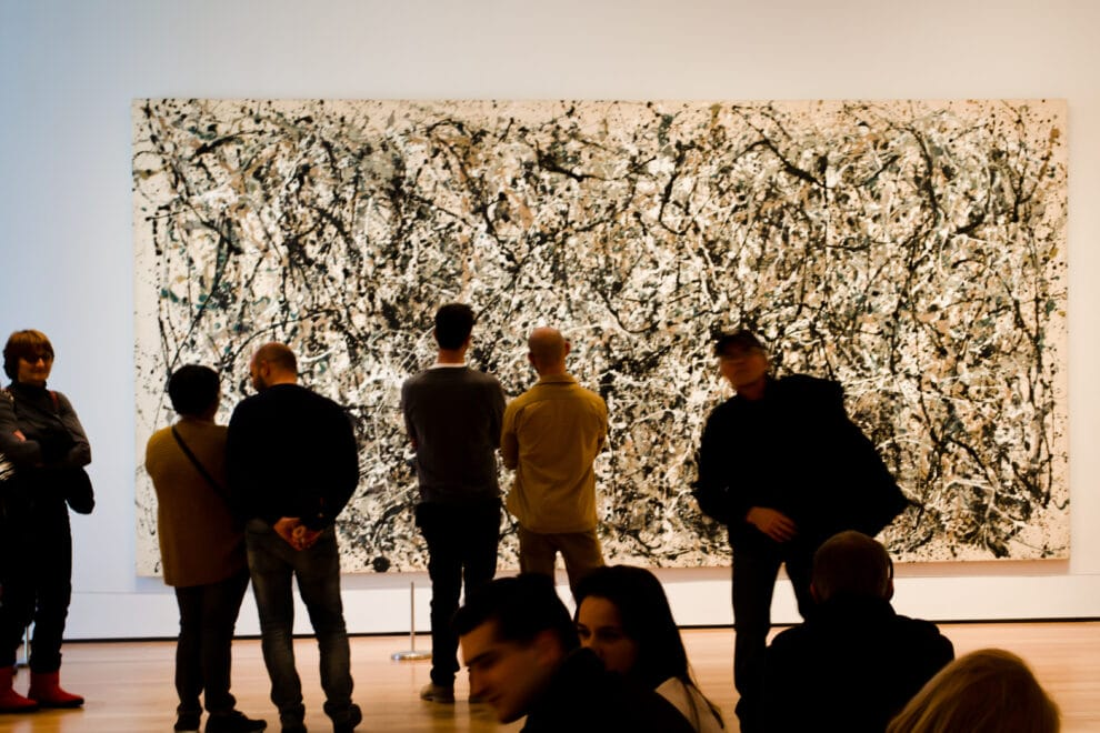 """EW YORK, USA - MARCH 26: Picture of the artist of Jackson Pollock """"Number 31"""" in Museum of Modern Art on March 26, 2014 in New York, USA"""