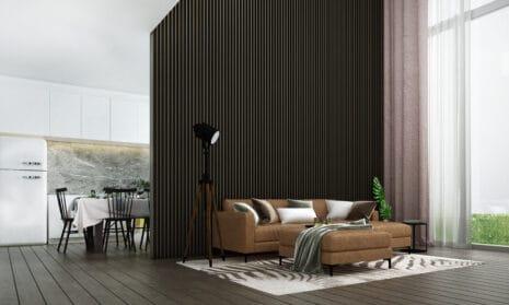 3D-gerendertes Wohnzimmer