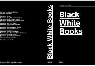 black white books