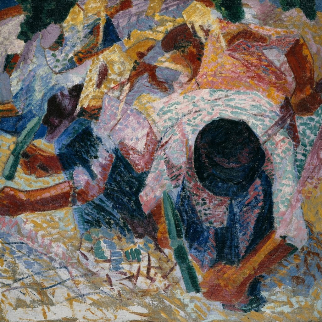 The Street Pavers, von Umberto Boccioni, 1914