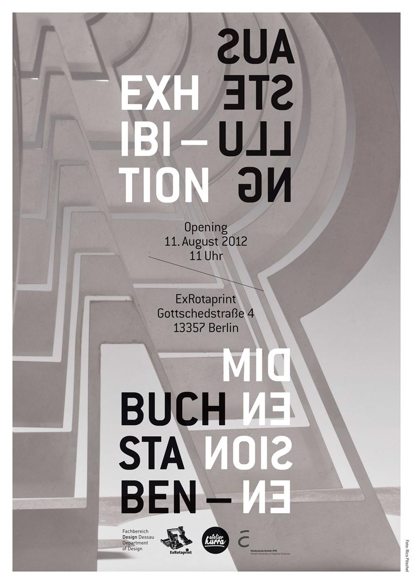 Design - Ausstellungsplakat » Buchstabendimensionen