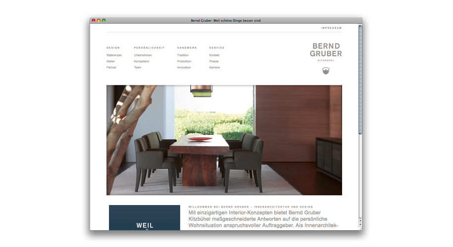 Die neue Website von Bernd Gruber